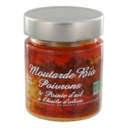 Moutarde Bio aux Poivrons et Pointe d'Ail 130 g