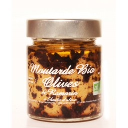 Moutarde Bio Olives et Romarin 130 g