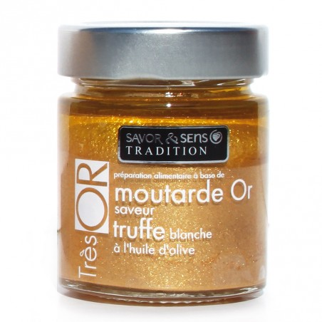 Moutarde Or saveur truffe blanche à l'huile d'olive