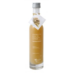 Vinegar with lemon pulp and ginger 10 cl