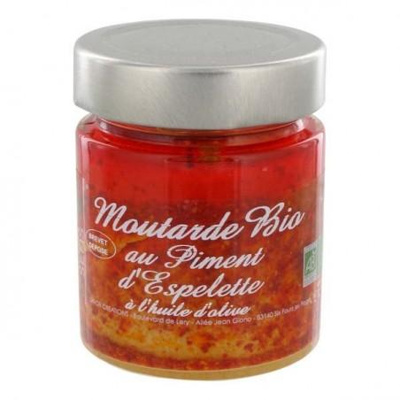 Moutarde Bio au Piment d'Espelette 130 g