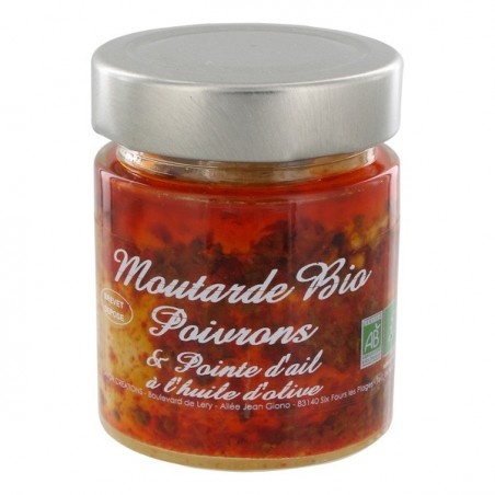 Bio mustard with bell peppers and garlic 130 g