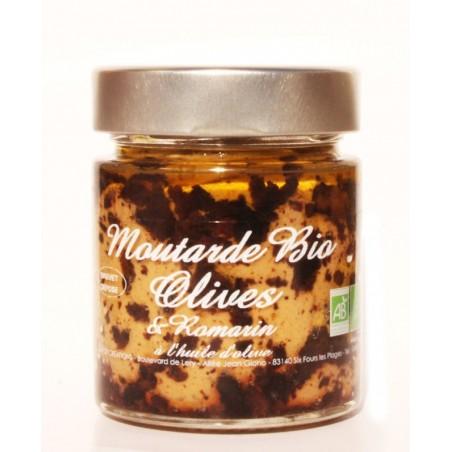 Moutarde Bio Olives et Romarin 130 g