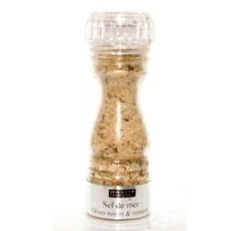Salzmühle Schwarze Oliven und Rosmarin 145 g