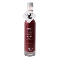 Vinaigre  pulpe de Framboise et poivre de Tasmanie 10 cl