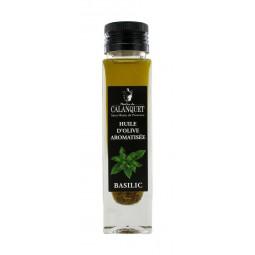 Huile d'olive aromatisée au Basilic 100 ml