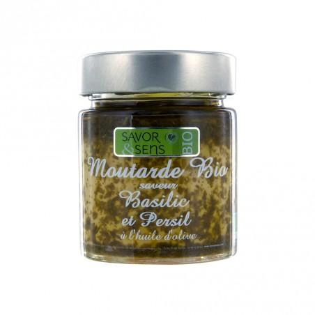 Bio basil mustard with parsley 130 g