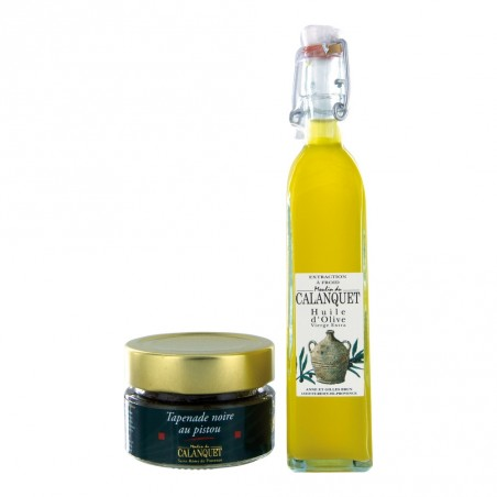 Discovery sachet olive oil and black olivade