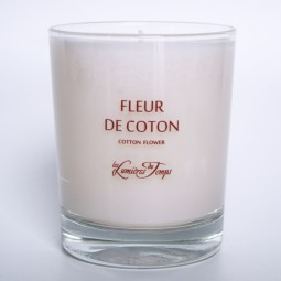 Vegetal Candle Cotton Flower