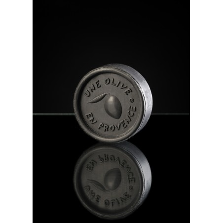 Round black soap 150 g