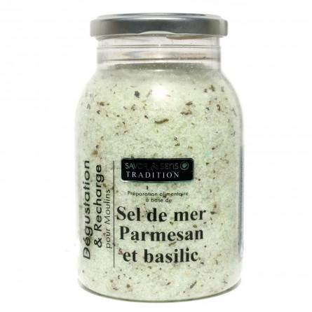 La recharge Sel de mer Parmesan et Basilic 580g