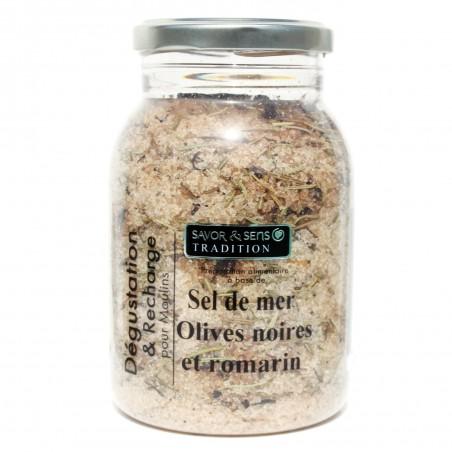 Recharge Sel de mer Olives Noires Romarin 630 g