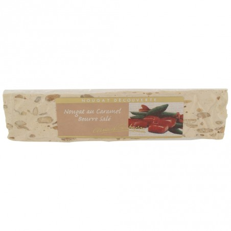 Salted butter caramel nougat bar 100 g