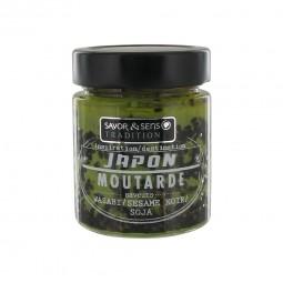 Moutarde Japon : wasabi-sesame noir-soja