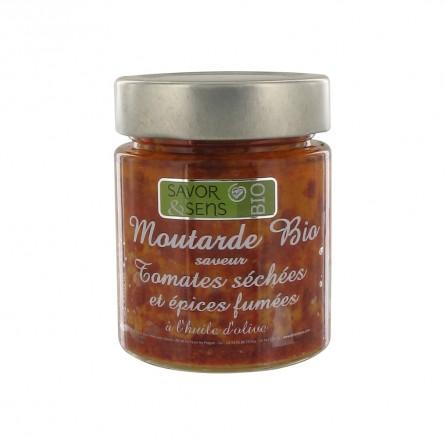 Moutarde Bio Tomates Séchées Epices Fumées