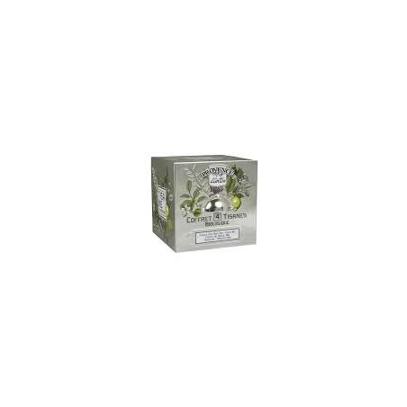 Tisane Box 4 tisanes boite cubes métal
