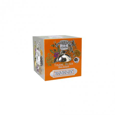 Tisane detox boite cube métal