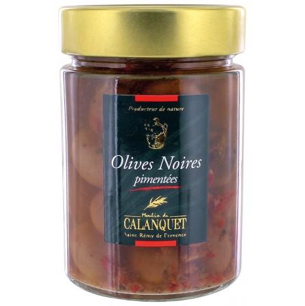 Olives Noire Pimentées