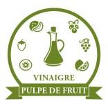 Vinaigres à la pulpe de fruit