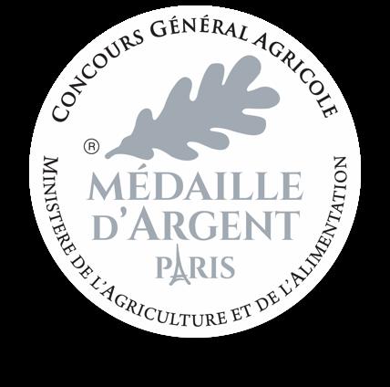 Médaille d'argent huile d'olive aglandau Moulin du Calanquet